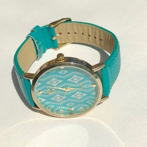 New turquoise Aztec watch